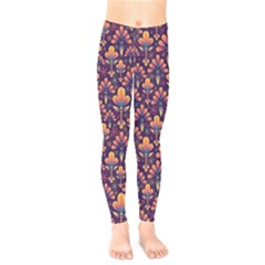 Abstract Background Floral Pattern Kids  Legging by BangZart