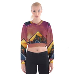 The Rainbow Bridge Of A Thousand Fractal Colors Cropped Sweatshirt