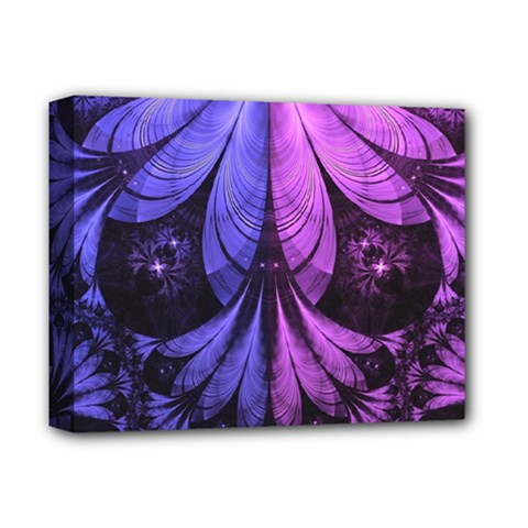 Beautiful Lilac Fractal Feathers Of The Starling Deluxe Canvas 14  X 11  by jayaprime