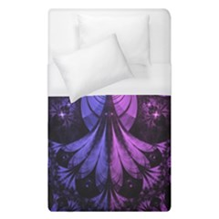 Beautiful Lilac Fractal Feathers Of The Starling Duvet Cover (single Size) by jayaprime