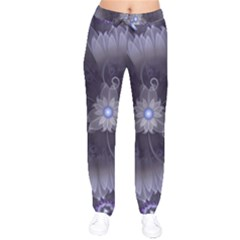 Amazing Fractal Triskelion Purple Passion Flower Drawstring Pants
