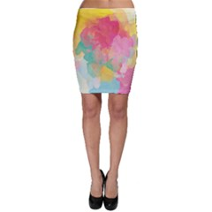 Pastel Watercolors Canvas                        Bodycon Skirt