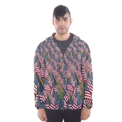 Repetition Retro Wallpaper Stripes Hooded Wind Breaker (men) by BangZart
