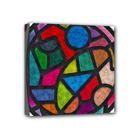 Stained Glass Color Texture Sacra Mini Canvas 4  X 4  by BangZart