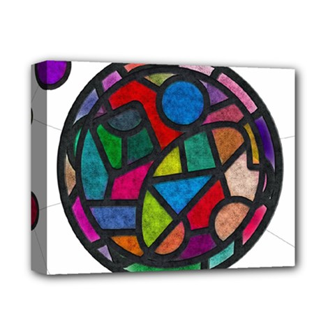 Stained Glass Color Texture Sacra Deluxe Canvas 14  X 11  by BangZart