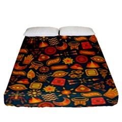 Pattern Background Ethnic Tribal Fitted Sheet (queen Size) by BangZart
