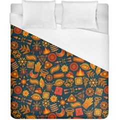 Pattern Background Ethnic Tribal Duvet Cover (california King Size) by BangZart