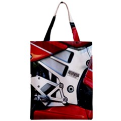Footrests Motorcycle Page Zipper Classic Tote Bag by BangZart