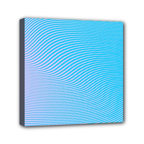 Background Graphics Lines Wave Mini Canvas 6  X 6  by BangZart