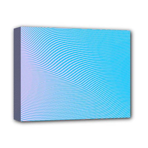 Background Graphics Lines Wave Deluxe Canvas 14  X 11  by BangZart