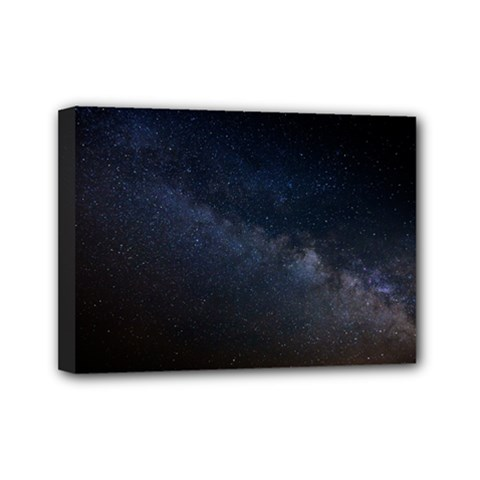Cosmos Dark Hd Wallpaper Milky Way Mini Canvas 7  X 5  by BangZart