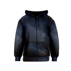 Cosmos Dark Hd Wallpaper Milky Way Kids  Zipper Hoodie