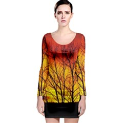 Sunset Abendstimmung Long Sleeve Bodycon Dress by BangZart