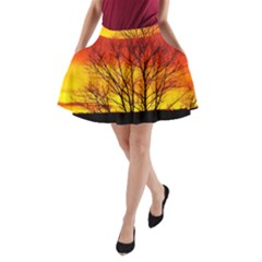 Sunset Abendstimmung A Line Pocket Skirt by BangZart