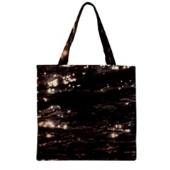 Lake Water Wave Mirroring Texture Zipper Grocery Tote Bag by BangZart