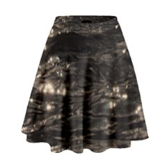 Lake Water Wave Mirroring Texture High Waist Skirt by BangZart