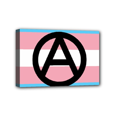 Anarchist Pride Mini Canvas 6  X 4  by TransPrints