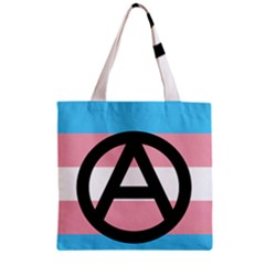 Anarchist Pride Zipper Grocery Tote Bag by TransPrints