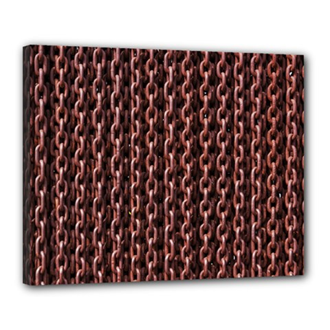 Chain Rusty Links Iron Metal Rust Canvas 20  X 16  by BangZart
