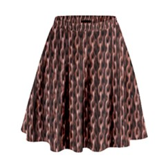 Chain Rusty Links Iron Metal Rust High Waist Skirt
