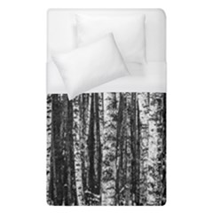 Birch Forest Trees Wood Natural Duvet Cover (single Size) by BangZart