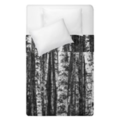 Birch Forest Trees Wood Natural Duvet Cover Double Side (single Size) by BangZart