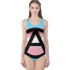 Anarchist Pride One Piece Swimsuit by TransPrints