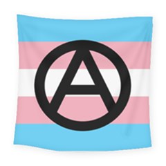 Anarchist Pride Square Tapestry (large) by TransPrints