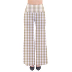 Christmas Gold Large Gingham Check Plaid Pattern Pants by PodArtist