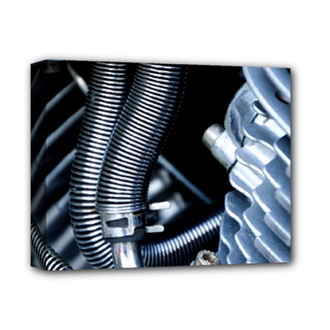 Motorcycle Details Deluxe Canvas 14  X 11  by BangZart