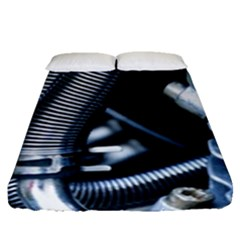 Motorcycle Details Fitted Sheet (queen Size) by BangZart