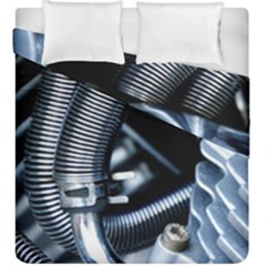 Motorcycle Details Duvet Cover Double Side (king Size)