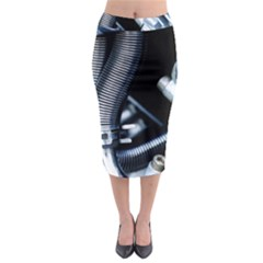 Motorcycle Details Midi Pencil Skirt by BangZart