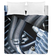 Motorcycle Details Duvet Cover Double Side (queen Size) by BangZart