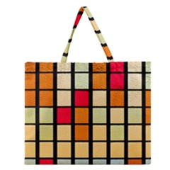 Mozaico Colors Glass Church Color Zipper Large Tote Bag by BangZart
