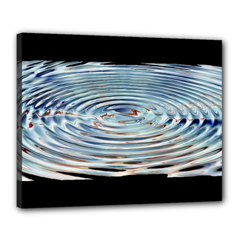 Wave Concentric Waves Circles Water Canvas 20  X 16  by BangZart