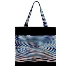 Wave Concentric Waves Circles Water Zipper Grocery Tote Bag by BangZart