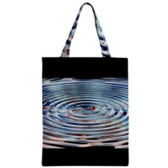 Wave Concentric Waves Circles Water Zipper Classic Tote Bag by BangZart