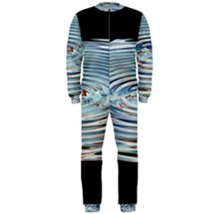 Wave Concentric Waves Circles Water Onepiece Jumpsuit (men)