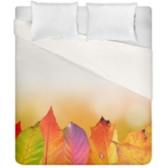Autumn Leaves Colorful Fall Foliage Duvet Cover Double Side (california King Size) by BangZart