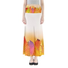 Autumn Leaves Colorful Fall Foliage Full Length Maxi Skirt by BangZart