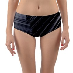 Paper Low Key A4 Studio Lines Reversible Mid Waist Bikini Bottoms