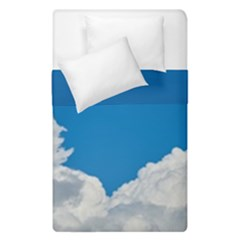 Sky Clouds Blue White Weather Air Duvet Cover Double Side (single Size)