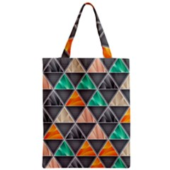 Abstract Geometric Triangle Shape Zipper Classic Tote Bag