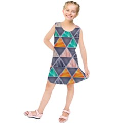 Abstract Geometric Triangle Shape Kids  Tunic Dress by BangZart