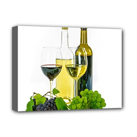 White Wine Red Wine The Bottle Deluxe Canvas 16  X 12   by BangZart