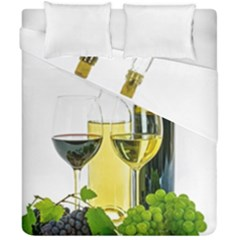 White Wine Red Wine The Bottle Duvet Cover Double Side (california King Size) by BangZart