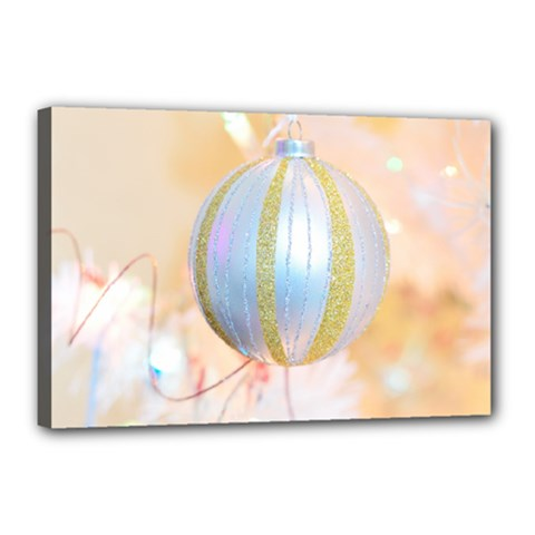 Sphere Tree White Gold Silver Canvas 18  X 12  by BangZart