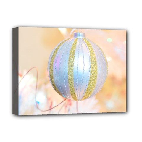 Sphere Tree White Gold Silver Deluxe Canvas 16  X 12   by BangZart