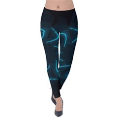 Background Abstract Decorative Velvet Leggings